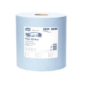 Dvojvrstvová papierová utierka v roli Tork modrá 130072