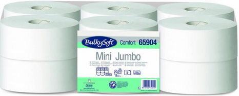 Toaletný papier BulkySoft Comfort 2 vrstvový Mini Jumbo 65904, 12 ks / bal.